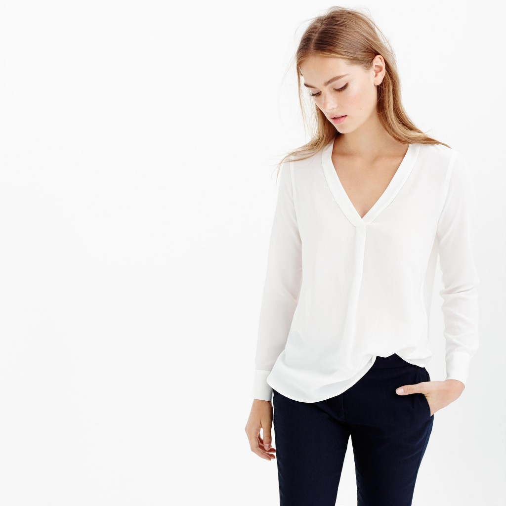 Jcrew Drapey Blouse