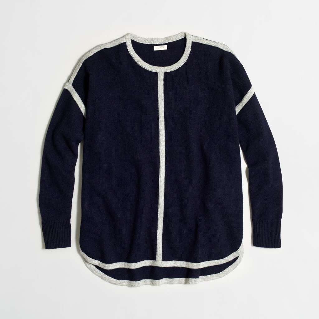 Navy Tipped sweater