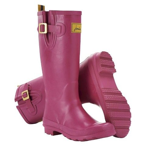 joules rain boots pink