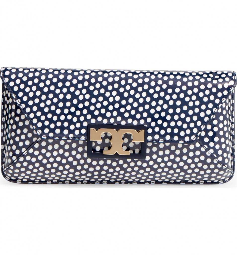 Gigi Print Leather Clutch