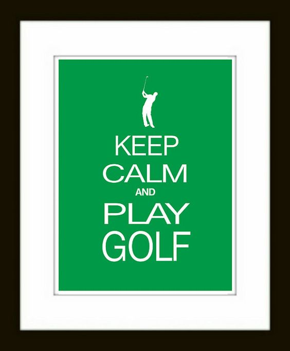 golf keep calm