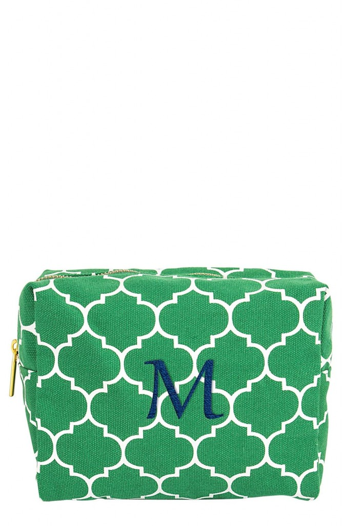 Cathy's Concepts Monogram Cosmetic Case