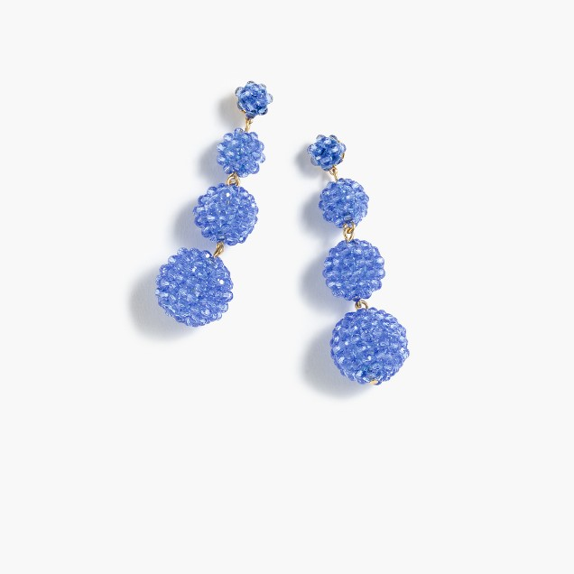 jcrew beaded earrings