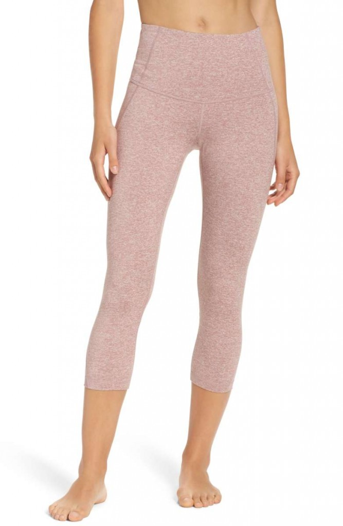 pink crop zella leggings