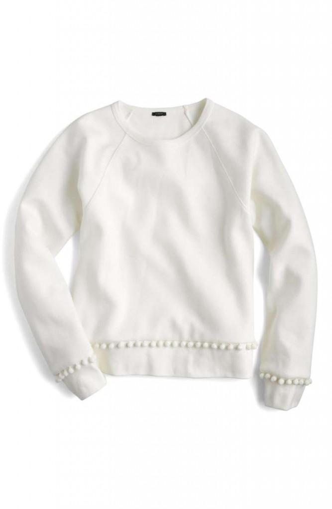 pom pom sweatshirts