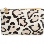Clare V. Snow Leopard Clutch