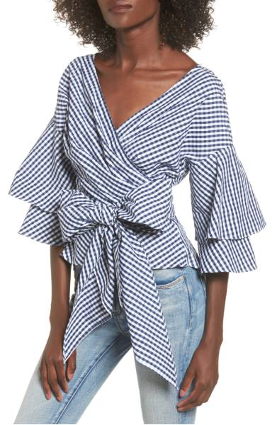 Gingham bow top