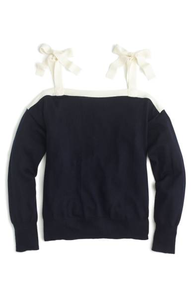 j.crew bow sweater