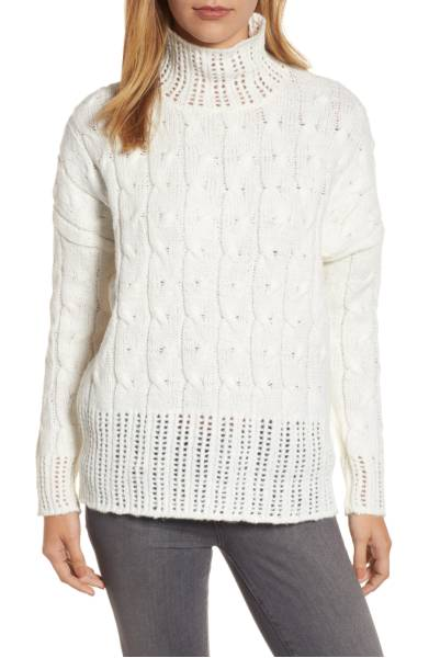 Press Pointelle Sweater